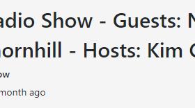 The PACE Radio Show - Guests: Natalie Cox & Khadisha Thornhill - Hosts: Kim Cooper & Al Graham