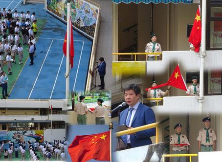 Principal LI speaking in the Flag Raising Ceremony國旗下講話--李德輝校長