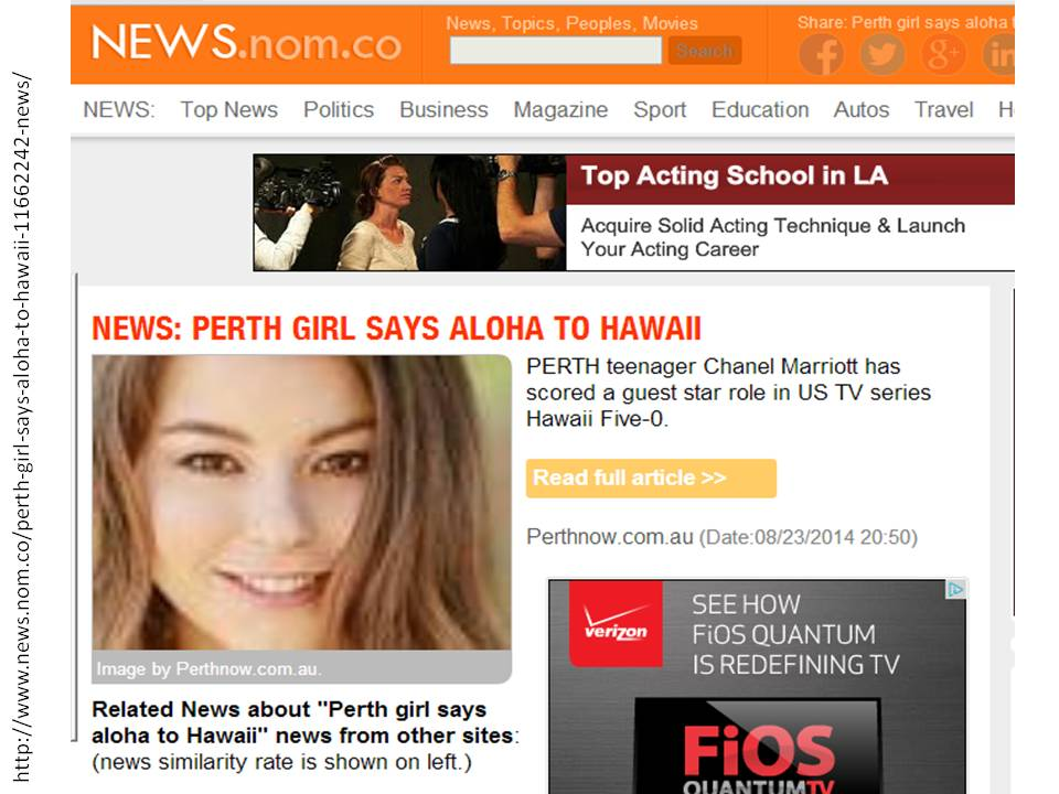PERTH GIRL SAYS ALOHA TO HAWAII