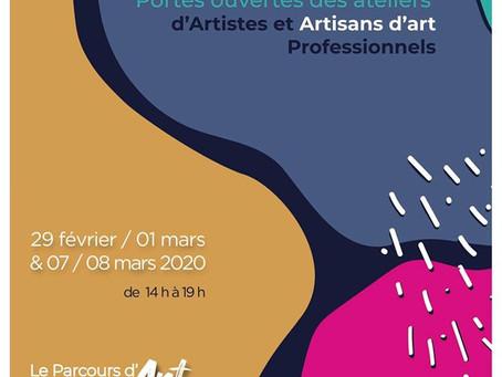 Portes Ouvertes les 7 & 8 Mars 2020 : Parcours d'Art avec les Ateliers de la Boucle