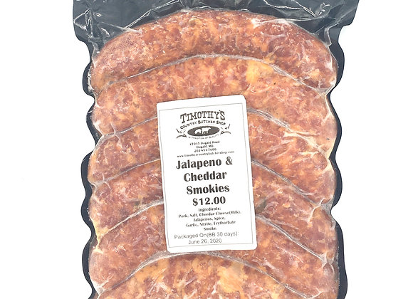 Jalapeno and Cheddar Smokies from Timothy's Butcher Shop