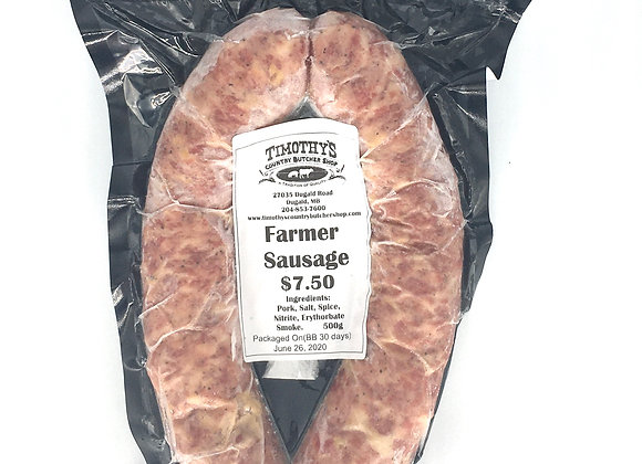 Farmers Sausage from Timothy's Butcher Shop