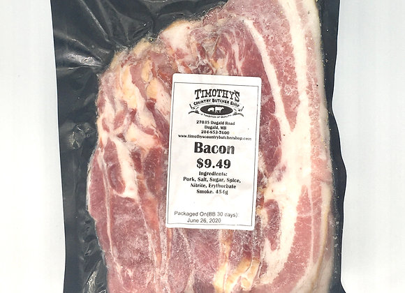 Bacon from Timothy's Butcher Shop