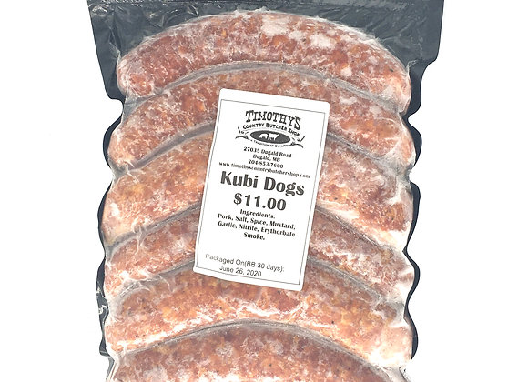Kubi Dogs from Timothy's Butcher Shop