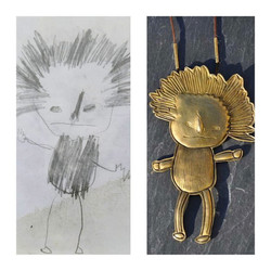 Du dessin d'enfant au bijou!!!