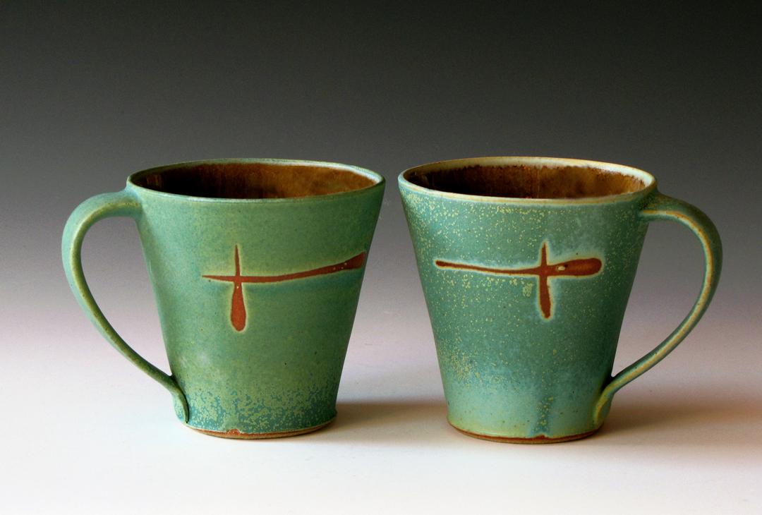 Turquoise Haze Mugs