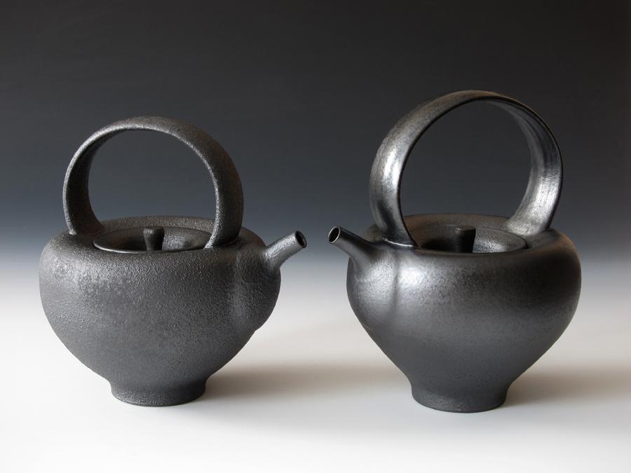 Gun Metal Teapots