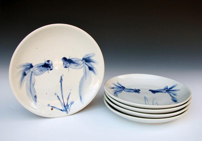Dancing Fish Dinner Plates