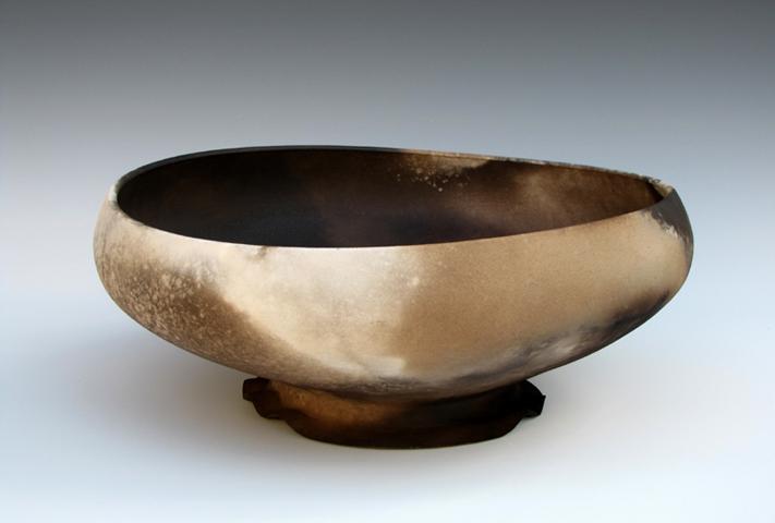 Smoke-fired Ovoid Bowl