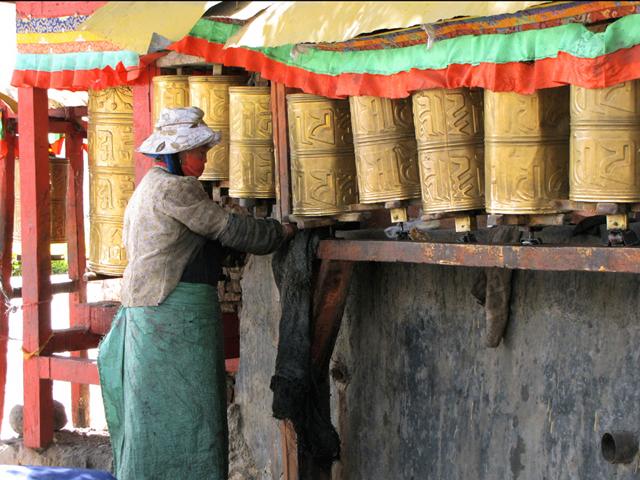 Prayer Wheels, Lhasa, Tibet