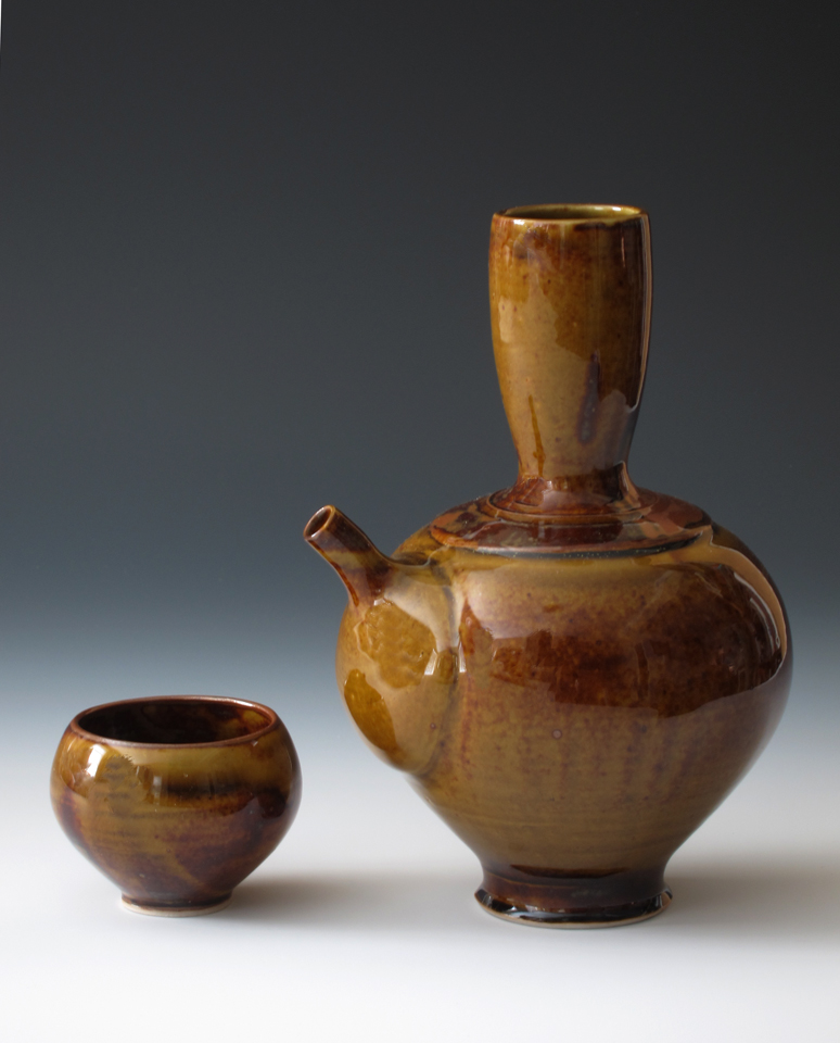 Honey Amber Sake Set
