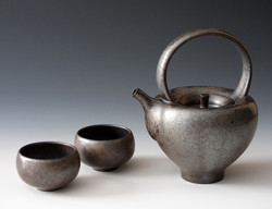 Black Luster Teapot Set