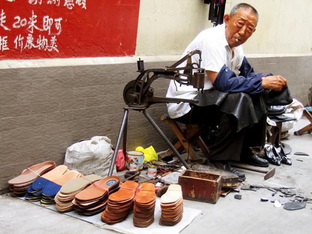 Cobbler, Shanghai, China