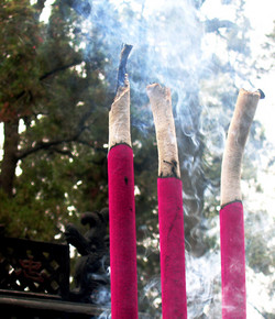 Temple Incense, Luoyang, China