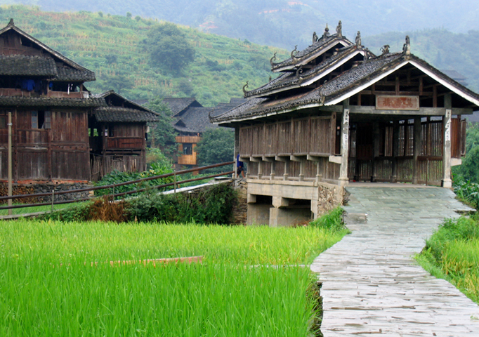 Longevity Bridge, DongVillage, China