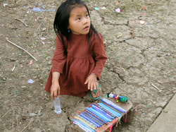 Hmong Girl Selling Bracelets, Laos