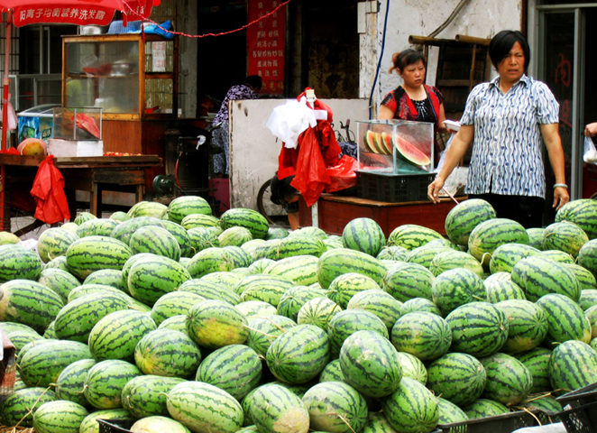 Watermellon Ladies, Jingdezhen, Chin