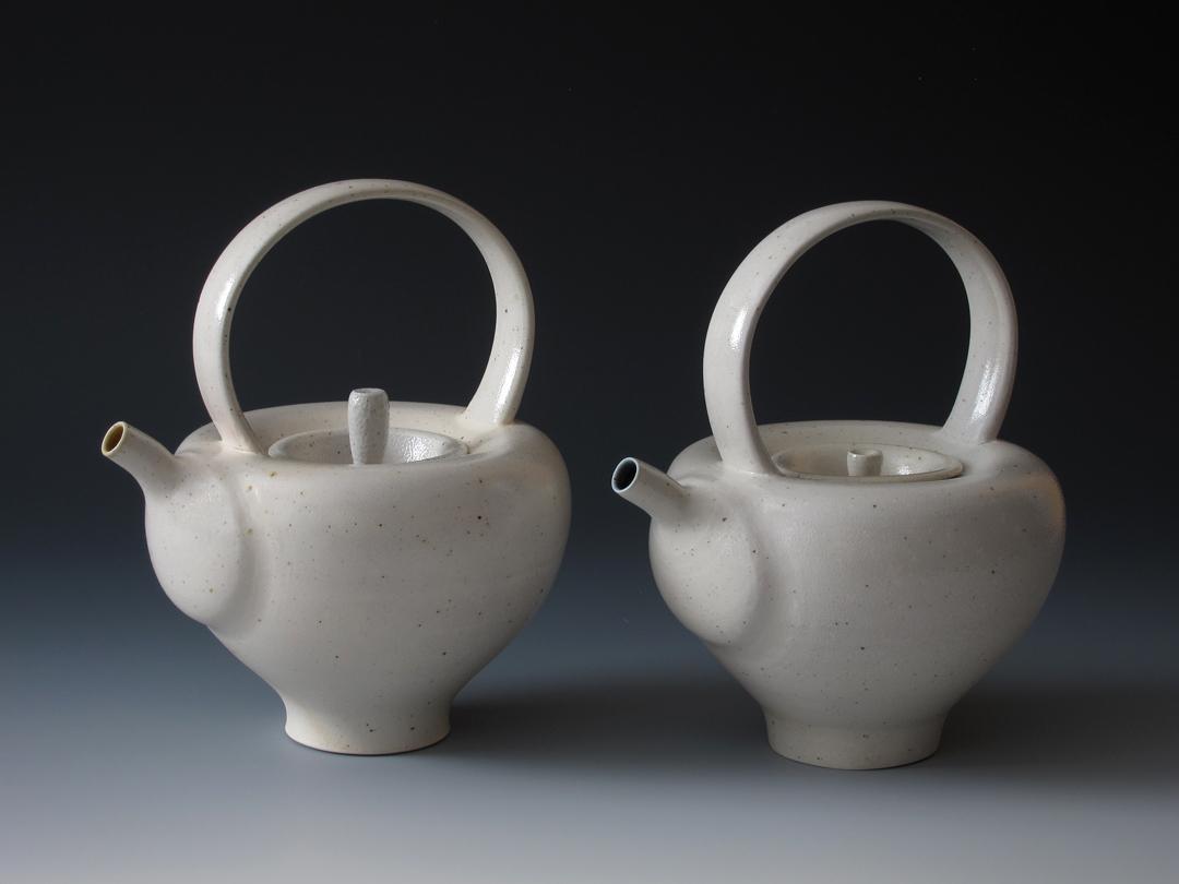 Haystack Salt-fired Teapots