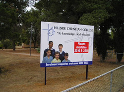 Hillside Entry Sign