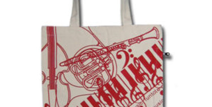 Canvas 4-Pocket Tote: Jazz Instruments