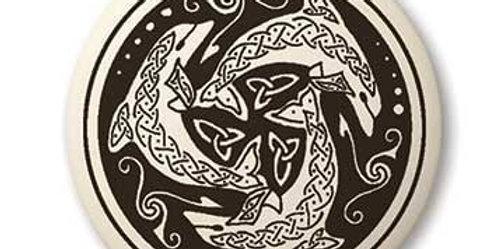 Nehalennia: Round Celtic Pendant