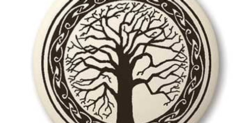 Sacred Tree: Round Celtic Pendant