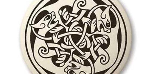 Cat: Round Celtic Pendant