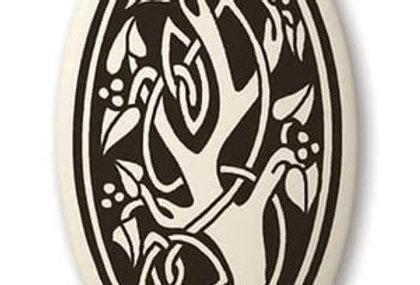 Sacred Tree: Oval Celtic Pendant