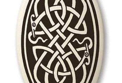 Serpent: Oval Celtic Pendant