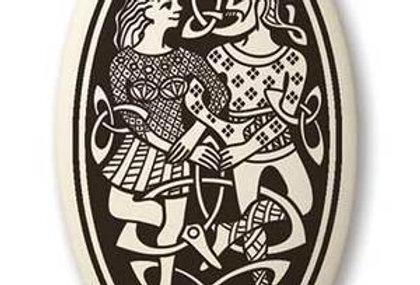 Divine Couple: Oval Celtic Pendant