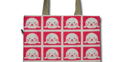 Canvas 4-Pocket Tote: Baby Seals