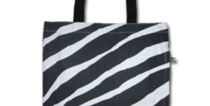 Canvas 4-Pocket Tote: Zebra