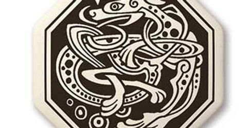 Dog: Octagon Celtic Pendant