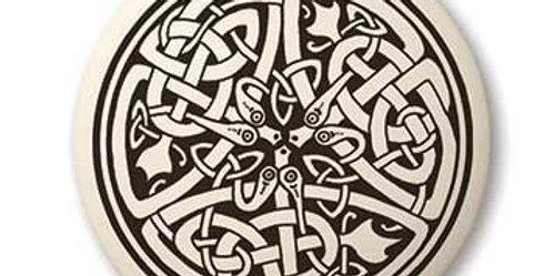 Serpent: Round Celtic Pendant