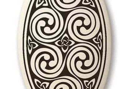 Spirals: Oval Celtic Pendant