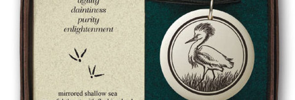 Snowy Egret: Pathfinder Pendant