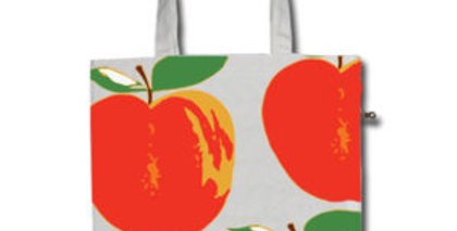 Canvas 4-Pocket Tote: Apples