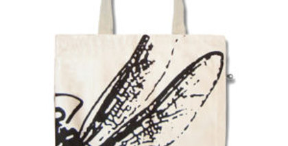 Canvas 4-Pocket Tote: Dragonfly