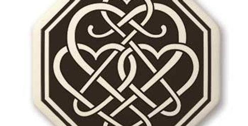 Heart: Octagon Celtic Pendant