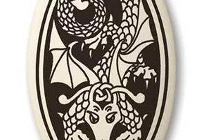 Dragon: Oval Celtic Pendant