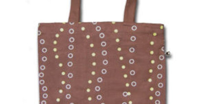 Canvas 4-Pocket Tote: Groovy Bubbles