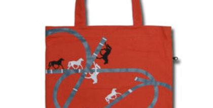 Canvas 4-Pocket Tote: Horses Wander