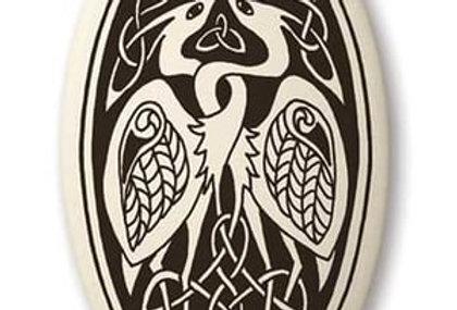 Birds: Oval Celtic Pendant