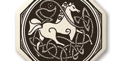 Horse: Octagon Celtic Pendant