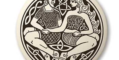 Divine Couple: Round Celtic Pendant
