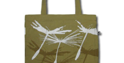 Canvas 4-Pocket Tote: Silky Dandelion Seeds