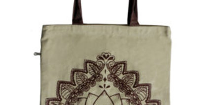 Canvas 4-Pocket Tote: Lotus