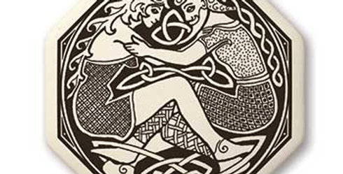 Divine Couple: Octagon Celtic Pendant