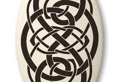 Knotwork: Oval Celtic Pendant