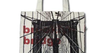 Canvas 4-Pocket Tote: Brooklyn Bridge
